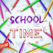 School background — 图库矢量图片