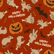 Happy Halloween seamless pattern — Stock Vector