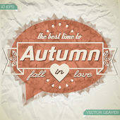 Autumn abstract floral background — Stock Vector