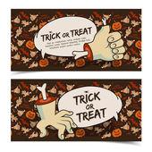Veselý halloween bannery sada — Stock vektor