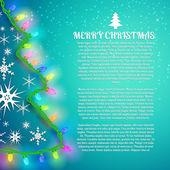X-mas gratulationskort. God jul — Stockvektor