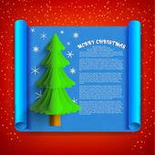 X-mas Greeting Card. Merry Christmas — Stock Vector
