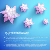 Realistic flower background — Stock Vector