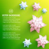 Sfondo fiore realistico — Vettoriale Stock