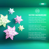 Realistic flower background — Stockvektor