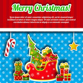 Happy New Year Card. Merry Christmas — Stock Vector