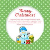 Gelukkig nieuwjaarskaart. vrolijk kerstfeest — Stockvector