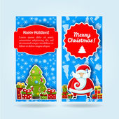 Happy New Year Card. Merry Christmas. banners set — Stock Vector