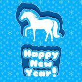 Tarjeta de feliz año nuevo. feliz navidad — Vector de stock