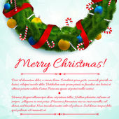 Merry Christmas creative background. — Stock Vector
