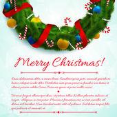 Fondo creativo de feliz navidad. — Vector de stock