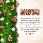 Merry Christmas creative background. — Stockvector