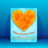 Tło valentine's day. koncepcja projektu — Wektor stockowy