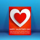 Valentine`s day background. Design concept — Vector de stock