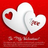 Valentine`s fond de jour. concept de design — Vecteur
