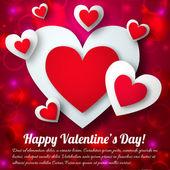 Valentine`s day background. Design concept — Stock Vector