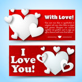 Valentine`s day banners set. Design concept — Stockvektor