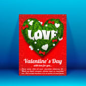 Valentine`s day background. Design concept — Wektor stockowy