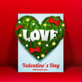 Valentine`s day background. Design concept — Vector de stock
