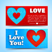 Valentine`s day banners set. Design concept — Stock vektor