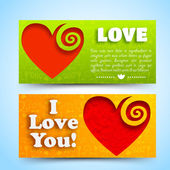 Valentine`s day banners set. Design concept — Stock Vector