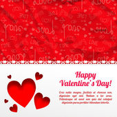 Valentine`s day background. Design concept — Cтоковый вектор