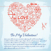 Valentine`s day background. Design concept — Stock Vector