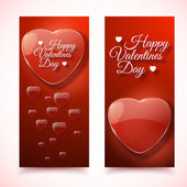 Valentine's Day Cards. Banners set. Design concept — Διανυσματικό Αρχείο