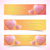 Valentine's Day Cards. Banners set. Design concept — Stock Vector