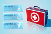 Medical bag background — Stockvector