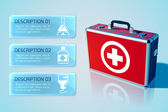 Medical bag background — Vector de stock