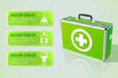 Medical bag background — Stock Vector