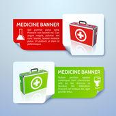 Medical bag banners set — Stock Vector