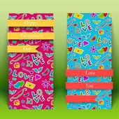 Valentine`s day banners set. Design concept — Stockvector