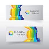 Business design concept. banners set — Stock Vector