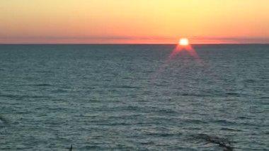 Sunset on the Mediterranean — Stock Video