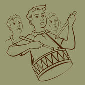 Drummer boy — Stockvektor