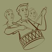 Trommler — Stockvektor