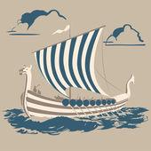 Viking ship — Stock Vector