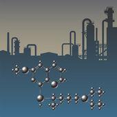 Atom industry — Stock Vector