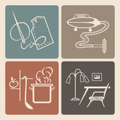 Household icons — Stock Vector