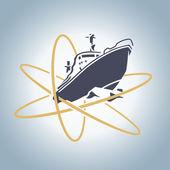 Atomic icebreaker — Stock Vector