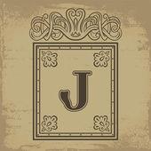 Letter J — Stock Vector