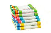 Stack of dishtowels — Stock Photo