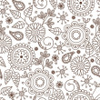 Cute seamless pattern — Stock Vector