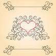 Royalty-Free Stock Photo: Valentine day card with patterns and heart inside