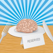 Reserved brain lies on a plate — Stock Photo