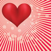 Valentine day card with huge red heart — Stock Photo