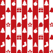 Christmas kit on a red and white background — Stock Vector
