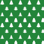 Christmas kit of trees on green background — Vecteur